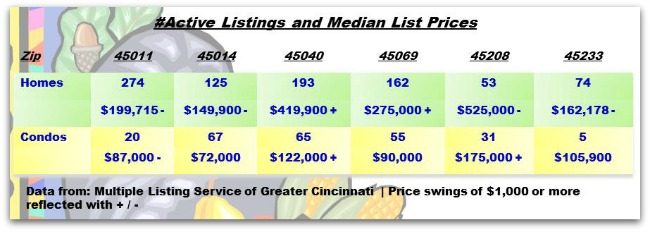 Greater Cincinnati Real Estate ZipCode Update 111913